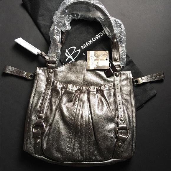 b. makowsky Bags   B Makowsky New Leather Purse With Dust Bag   Poshmark 2dc8d3ba4c